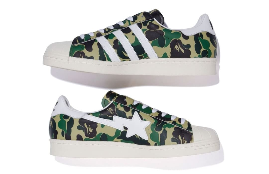 Bape x Adidas Superstar 'Green Camo' Side