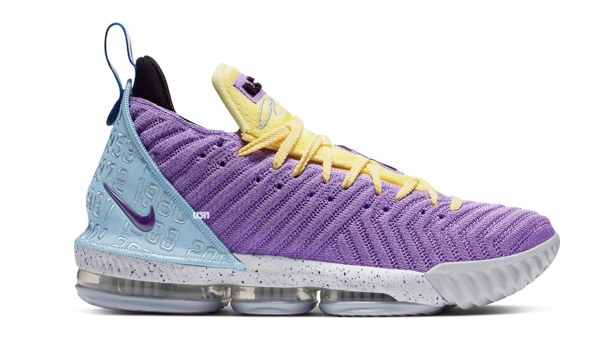 Nike LeBron 16 'Lakers' CK4765-500 (Lateral)