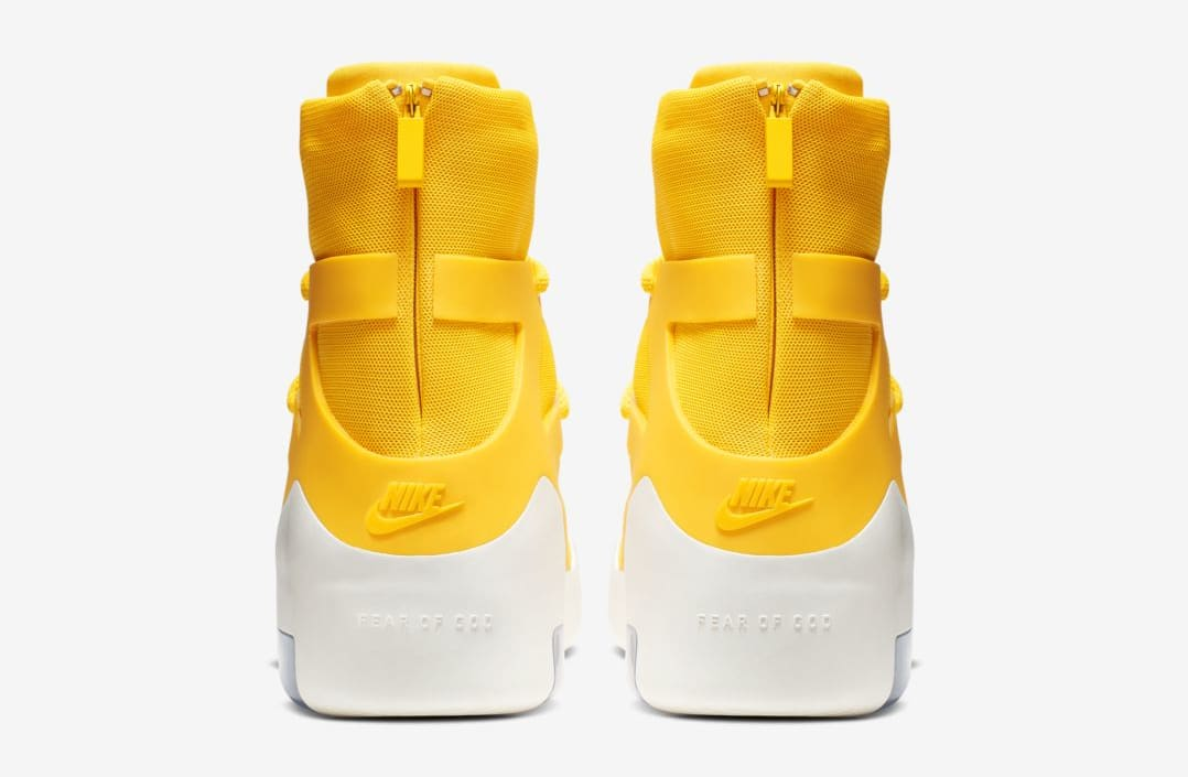 Nike Air Fear of God 1 'Amarillo' (Heel)