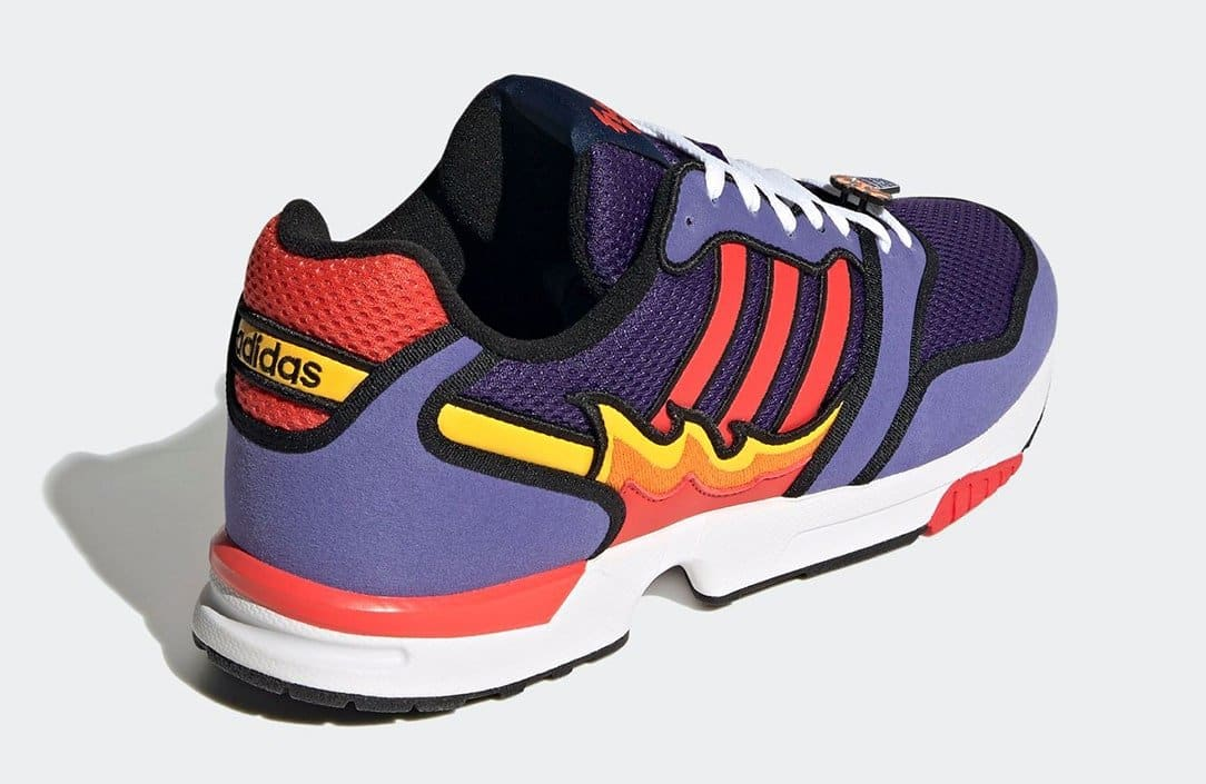 The Simpsons x Adidas ZX 1000 'Flaming Moe's' H05790 Heel