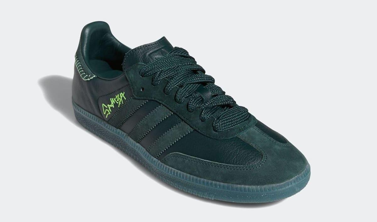 Jonah Hill x Adidas Samba 'Green' FW7458 Front
