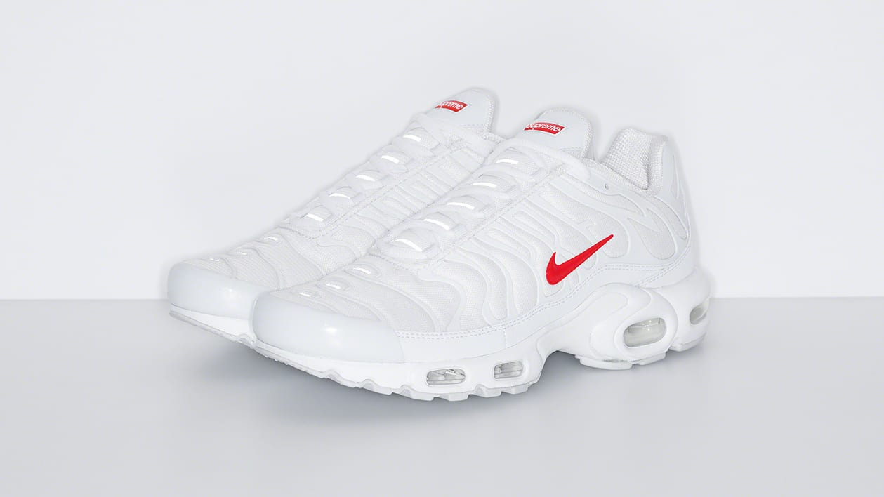 Supreme x Nike Air Max Plus 'White' Pair