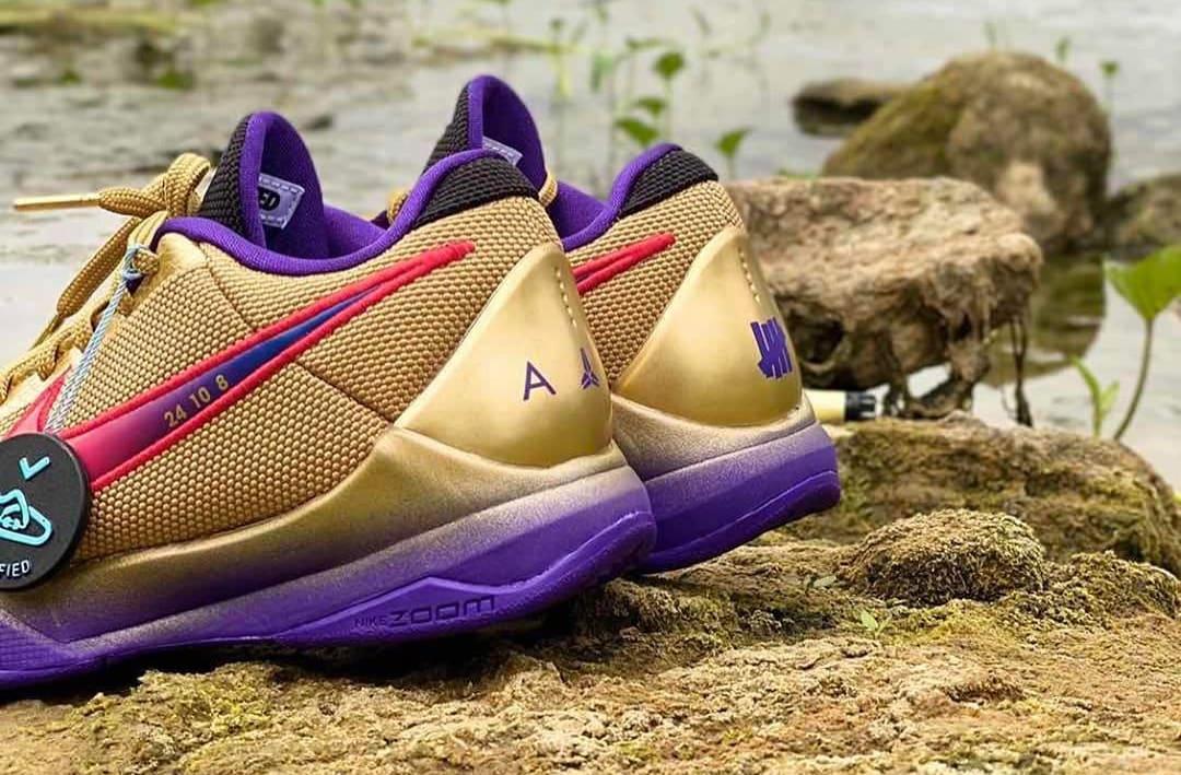 Undefeated x Nike Kobe 5 Protro 'HOF' DA6809-700 Heel