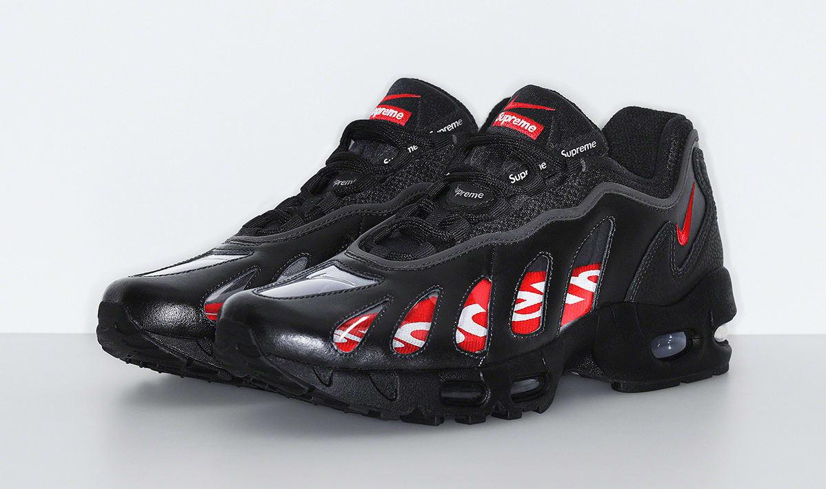 Supreme x Nike Air Max 96 'Black' Pair