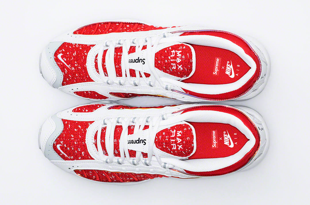 Supreme x Nike Air Tailwind 4 'Red/White' (Top)