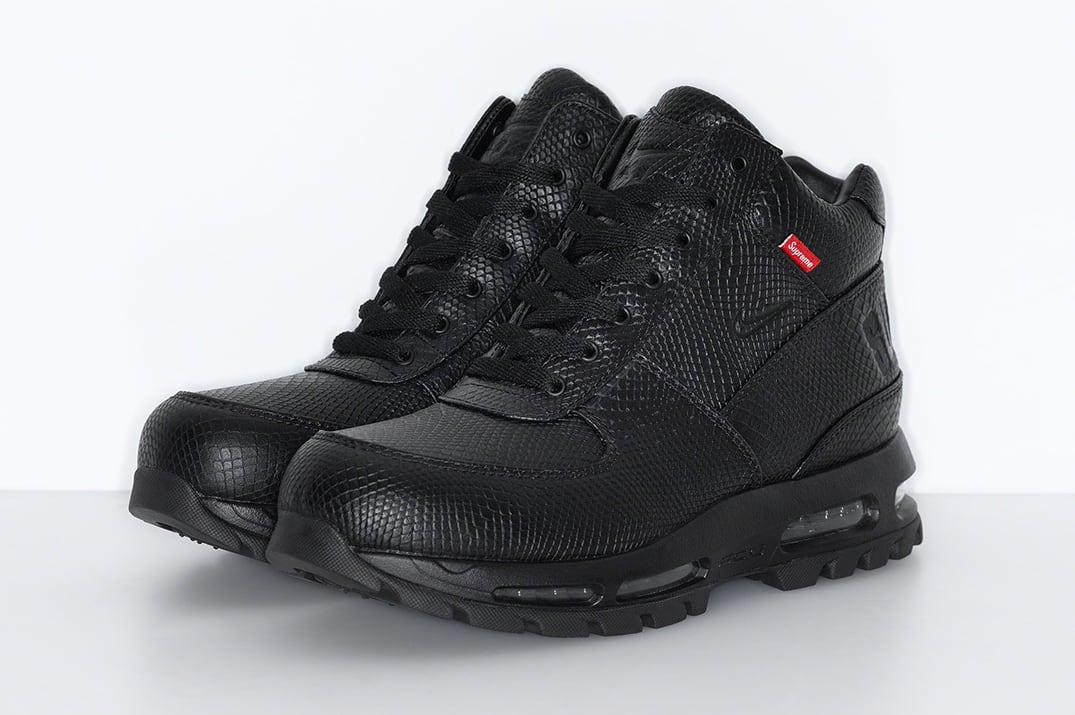 Supreme x Nike Air Max Goadome Black Pair