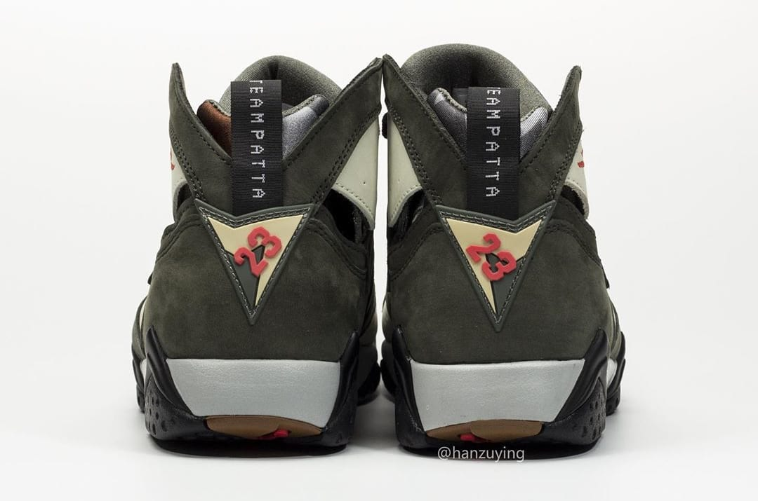 Patta x Air Jordan 7 AT3375-100 (Heel)