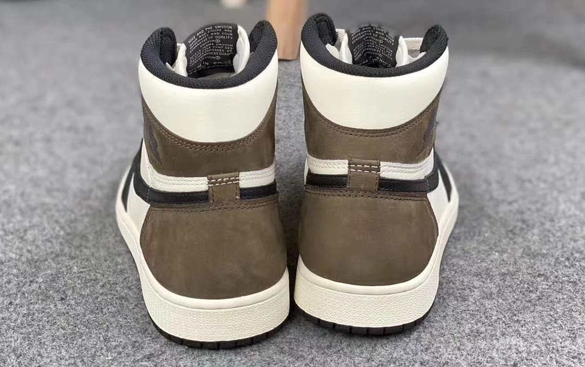 Air Jordan 1 Retro High OG 'Dark Mocha' 555088-105 Heel