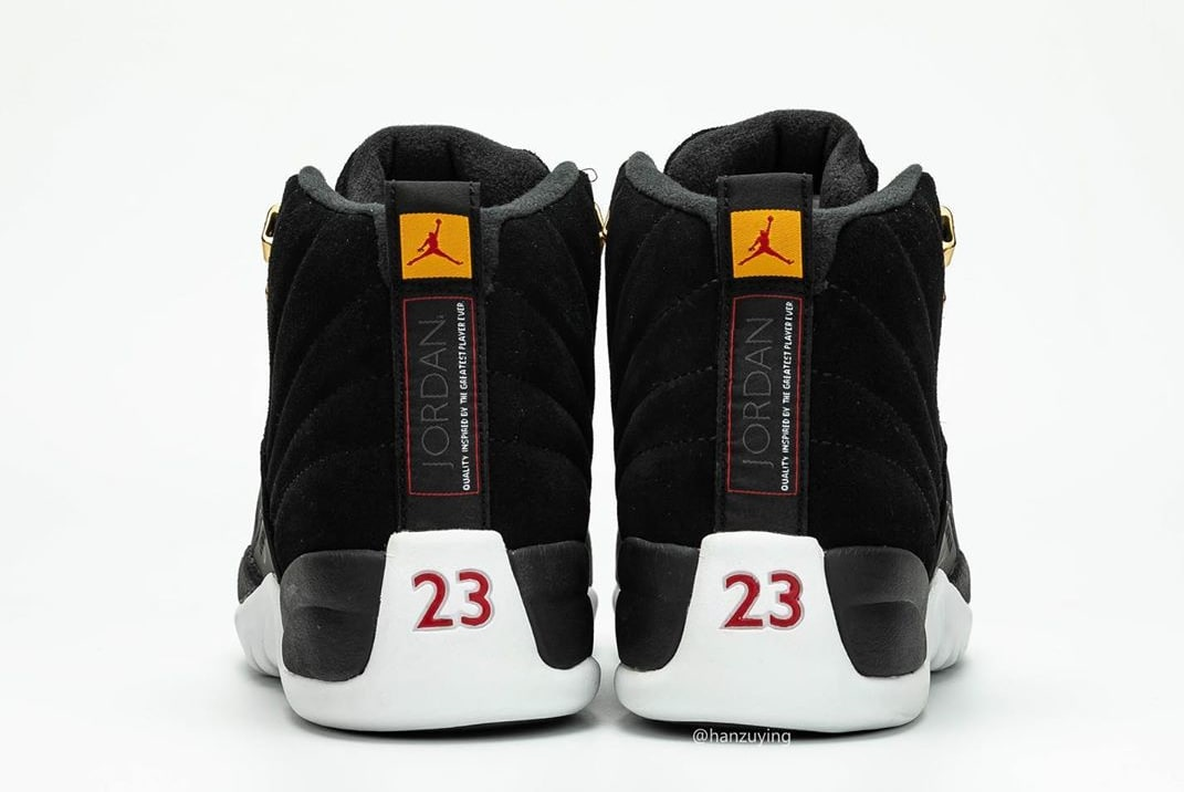 Air Jordan 12 Retro 'Reverse Taxi' 130690-017 (Heel)