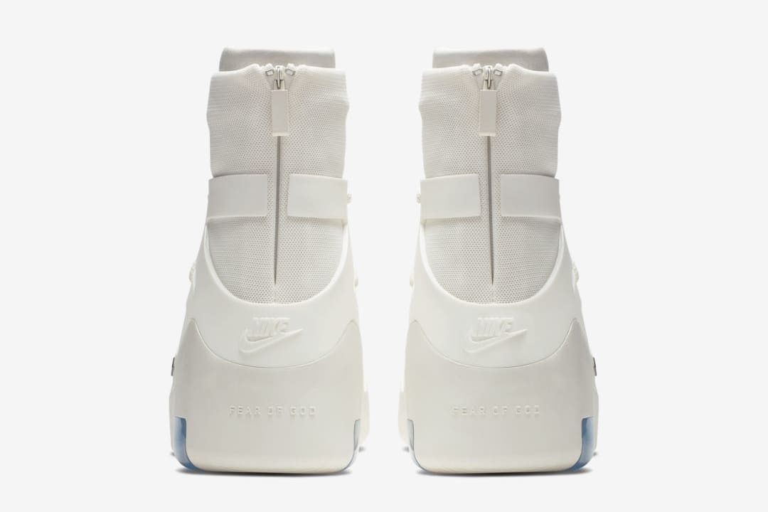 Nike Air Fear of God 1 'Sail/Black' AR4237-100 (Heel)