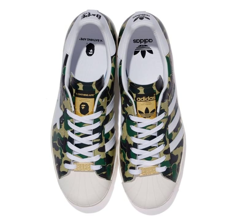 Bape x Adidas Superstar 'Green Camo' Top