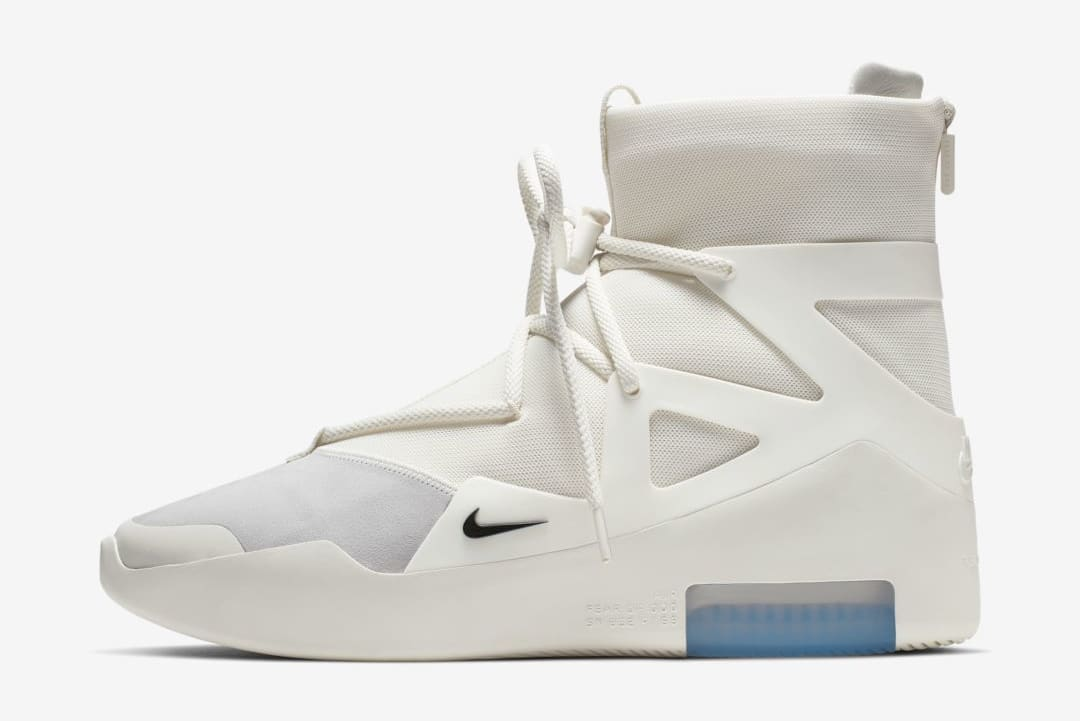 Nike Air Fear of God 1 'Sail/Black' AR4237-100 (Lateral)
