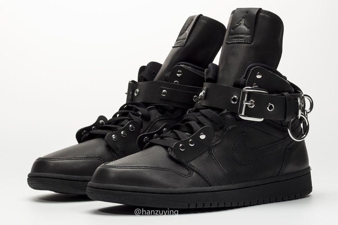 Comme Des Garcons x Air Jordan 1 'Black' CN5738-001 Front