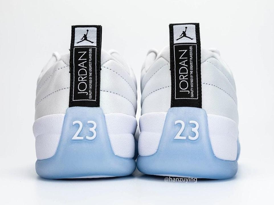 Air Jordan 12 XII Low Easter Release Date DB0733-190 Heel