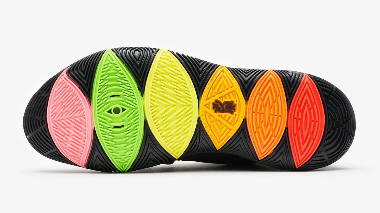 Nike Kyrie 5 Black Rainbow Release Date AO2918-001 Sole