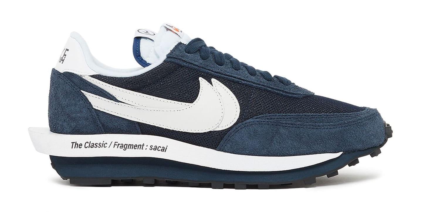 Fragment x Sacai x Nike LDWaffle 'Blue' DH2684-400 Lateral