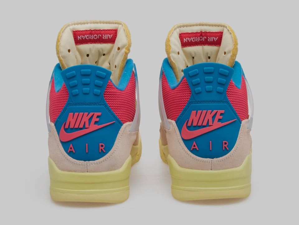 Union x Air Jordan 4 Retro 'Guava Ice' DC9533-800 Heel