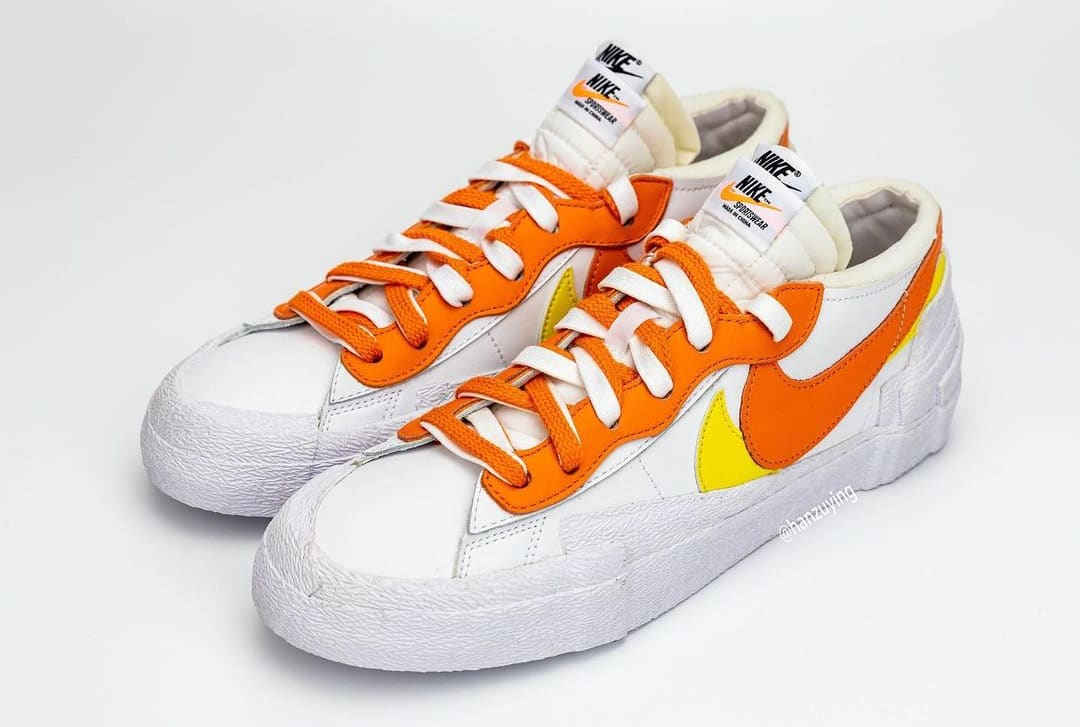 Sacai x Nike Blazer Low 'Magma Orange' DD1877-100 Pair