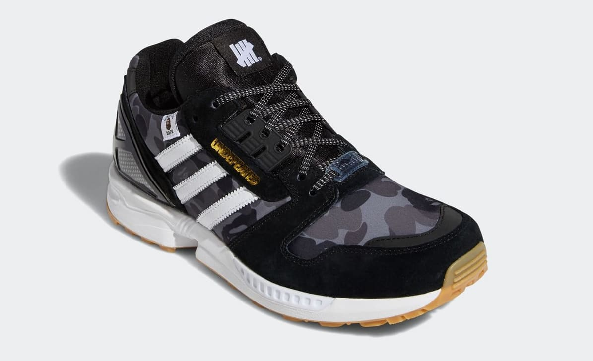 Bape x Undefeated x Adidas ZX 8000 FY8852 Front