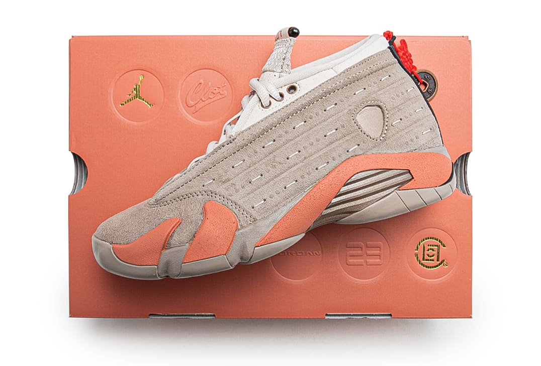 CLOT x Air Jordan 14 XIV Low Release Date DC9857-200 Box