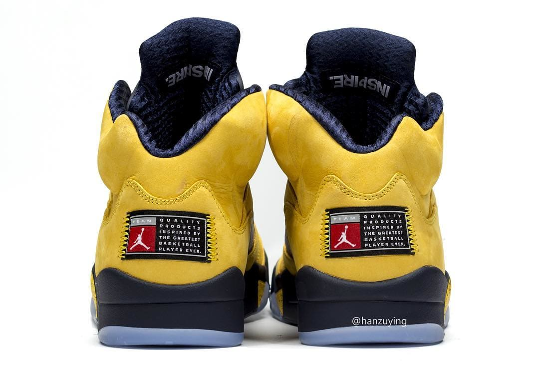 outlet store 9fbb9 7c515 Image via hanzuying · Air Jordan 5 SP  Michigan  CQ9541-704 Heel