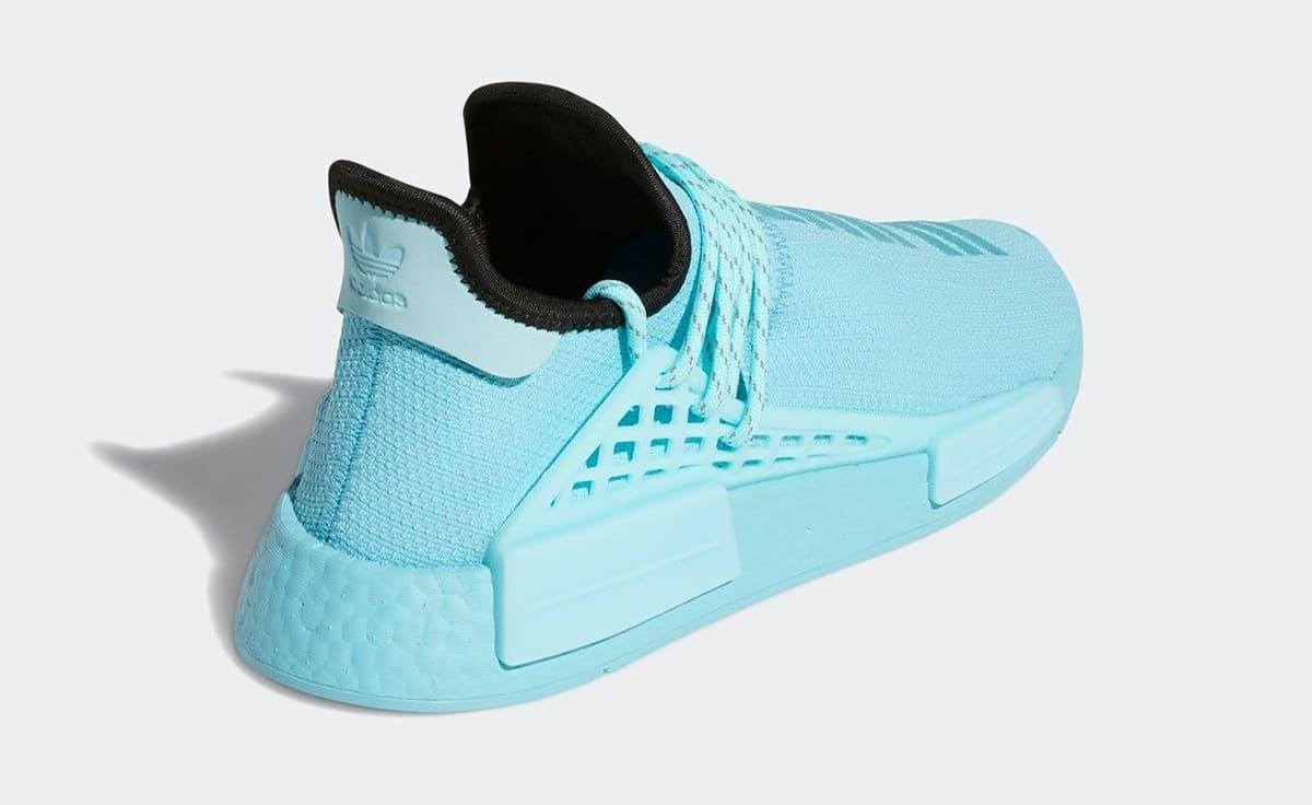 Pharrell Adidas NMD Hu 'Aqua' GY0094 Heel