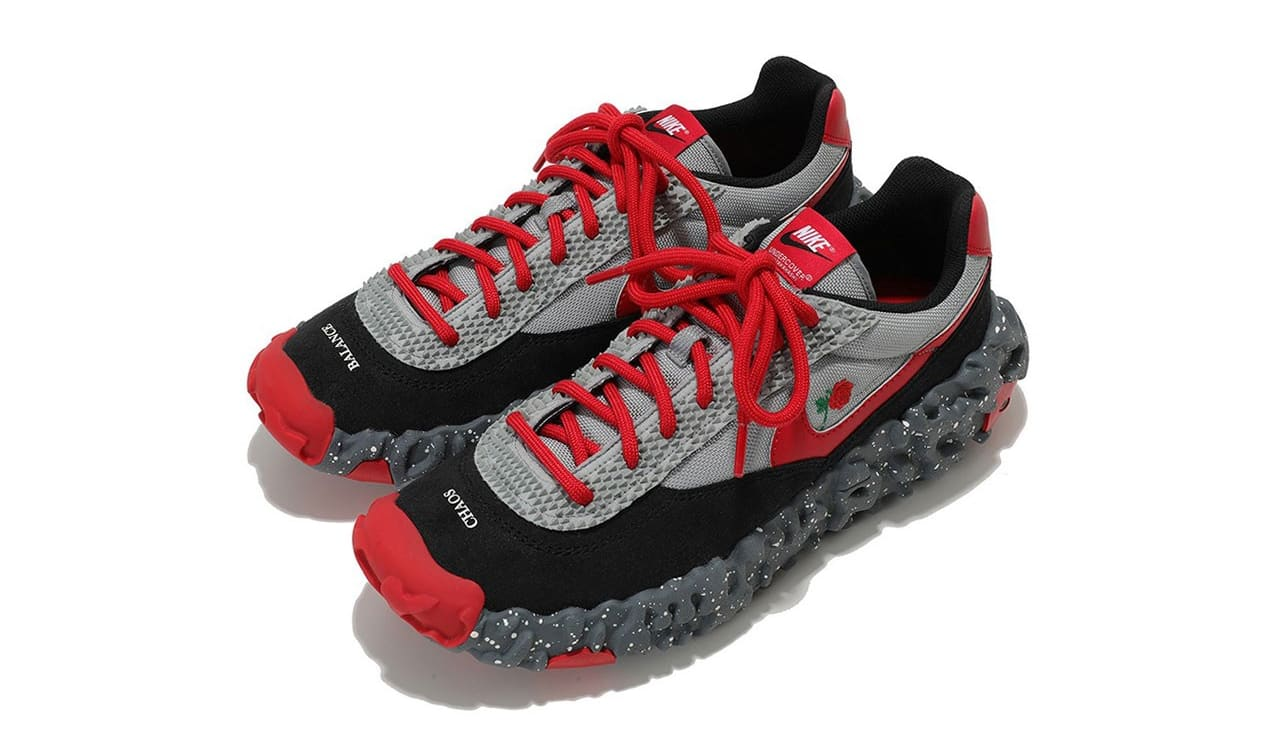 Undercover x Nike ISPA OverReact Grey/Black/Red Top