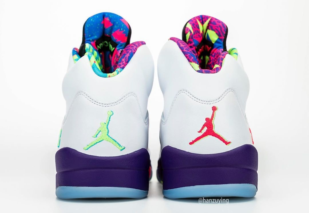 Air Jordan 5 V Fresh Prince Bel-Air Alternate Release Date DB3335-100 Heel