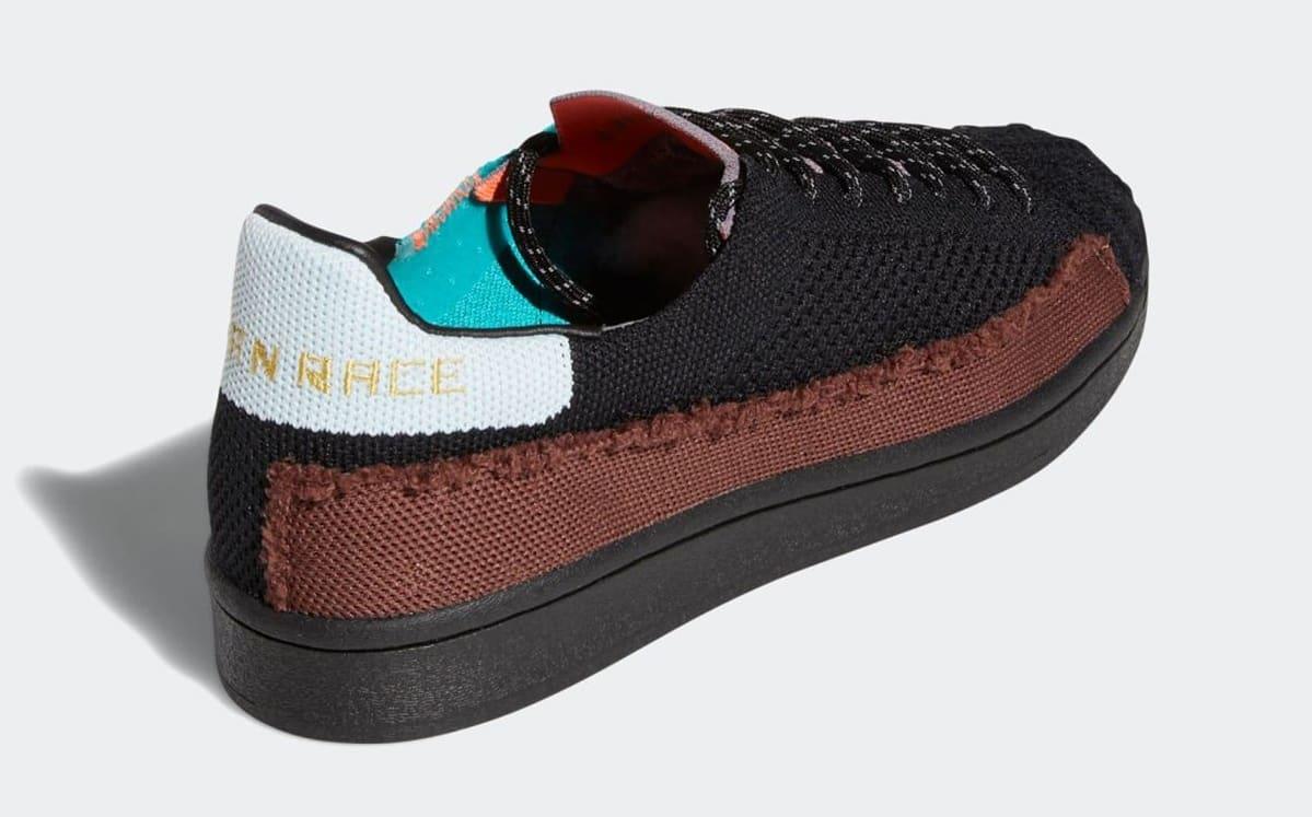 Pharrell Williams x Adidas Superstar Black FY1787 Heel