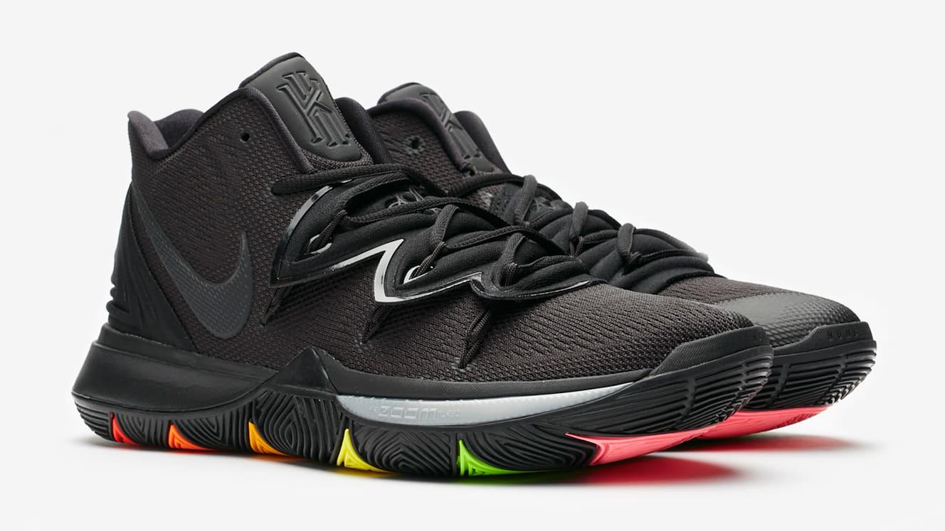 Nike Kyrie 5 Black Rainbow Release Date AO2918-001 Pair