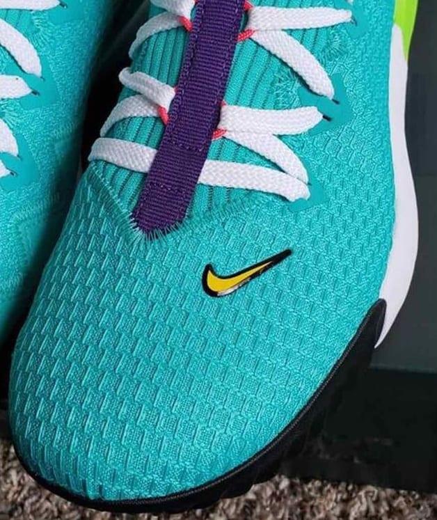 Nike LeBron 16 Low 'Hyper Jade' CI2668-301 Tongue
