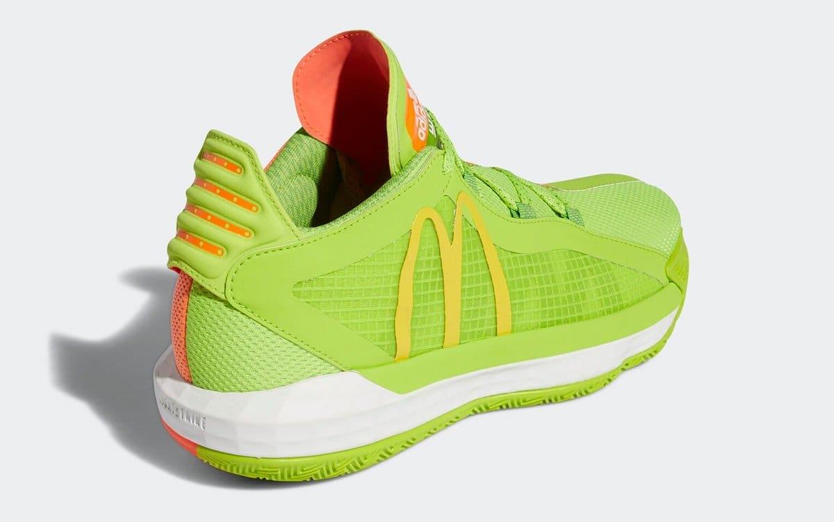McDonald's x Adidas Dame 6 'Dame Sauce' FX3334 Heel