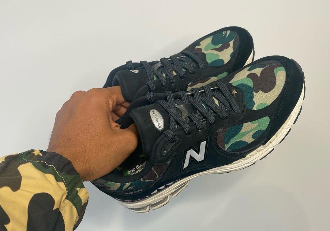 Bape x New Balance 2002R Green