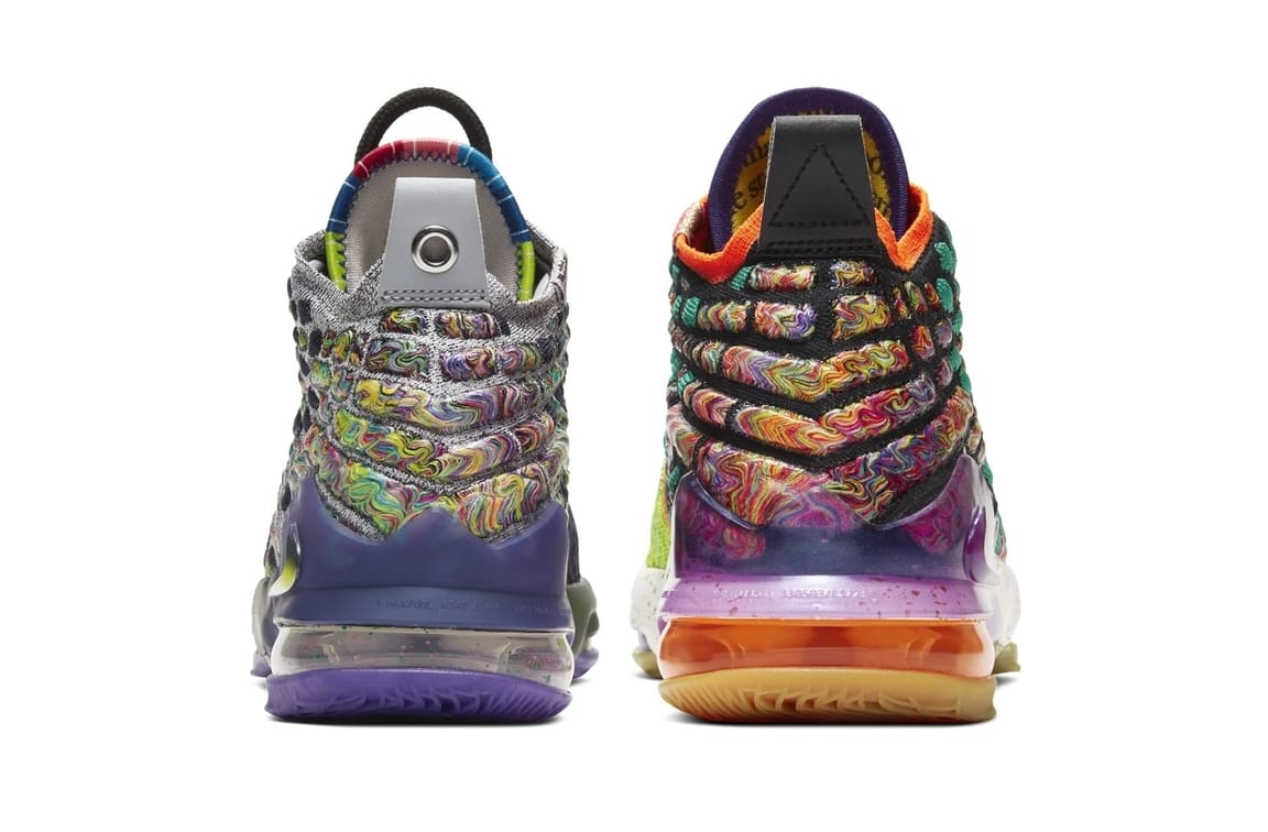 Nike LeBron 17 GS 'What The' Heel
