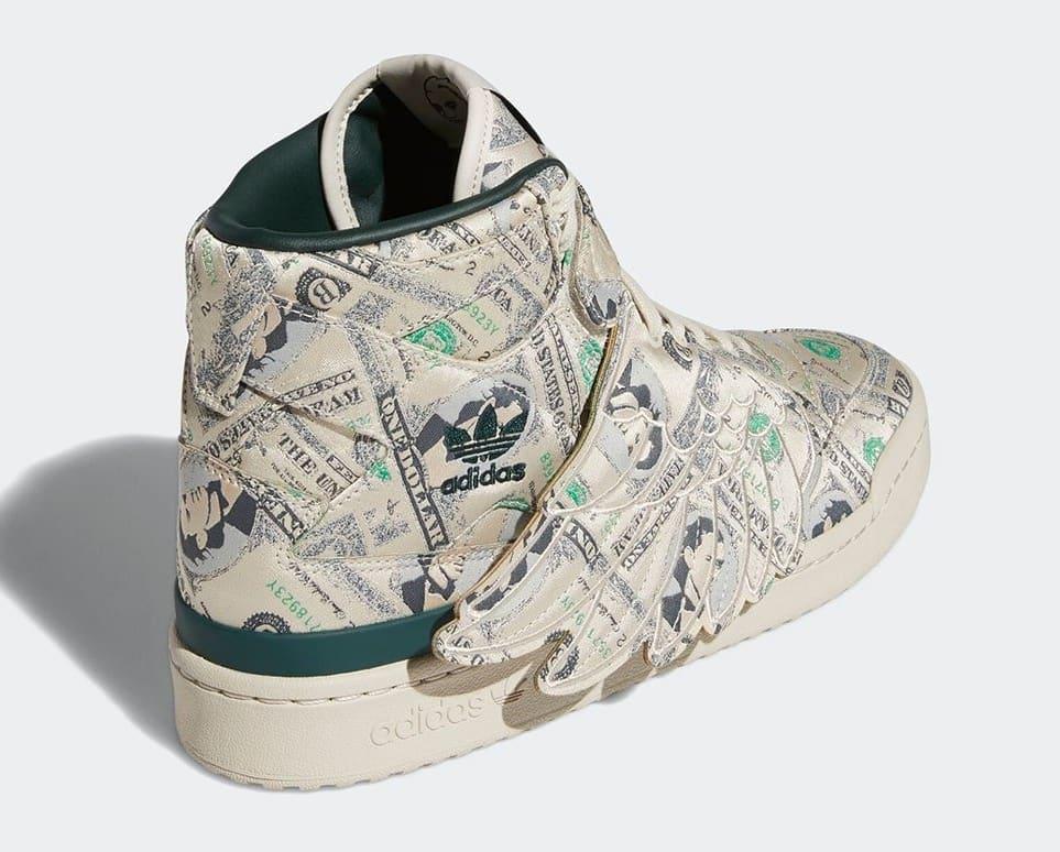 Jeremy Scott x Adidas Forum High Wings 'Money' Q46154 Heel