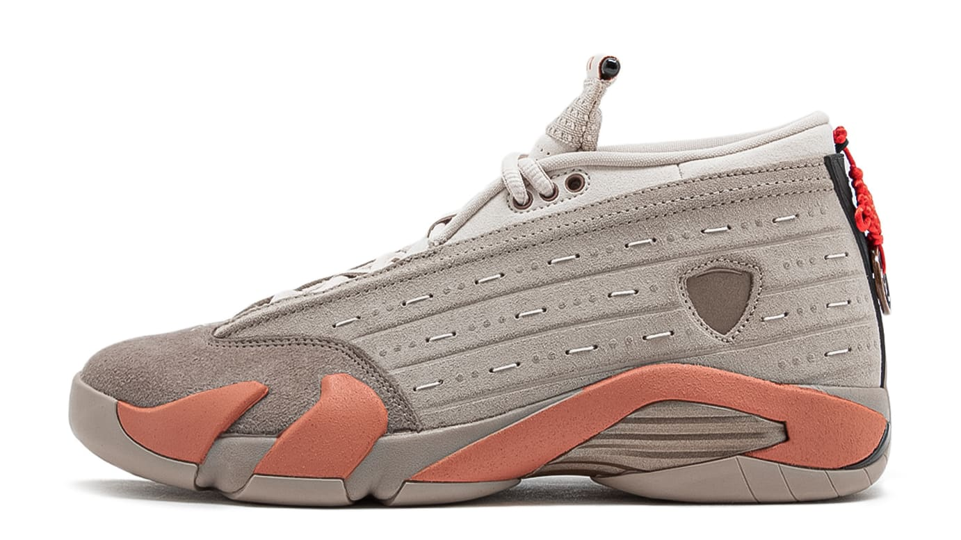 CLOT x Air Jordan 14 XIV Low Release Date DC9857-200 Profile