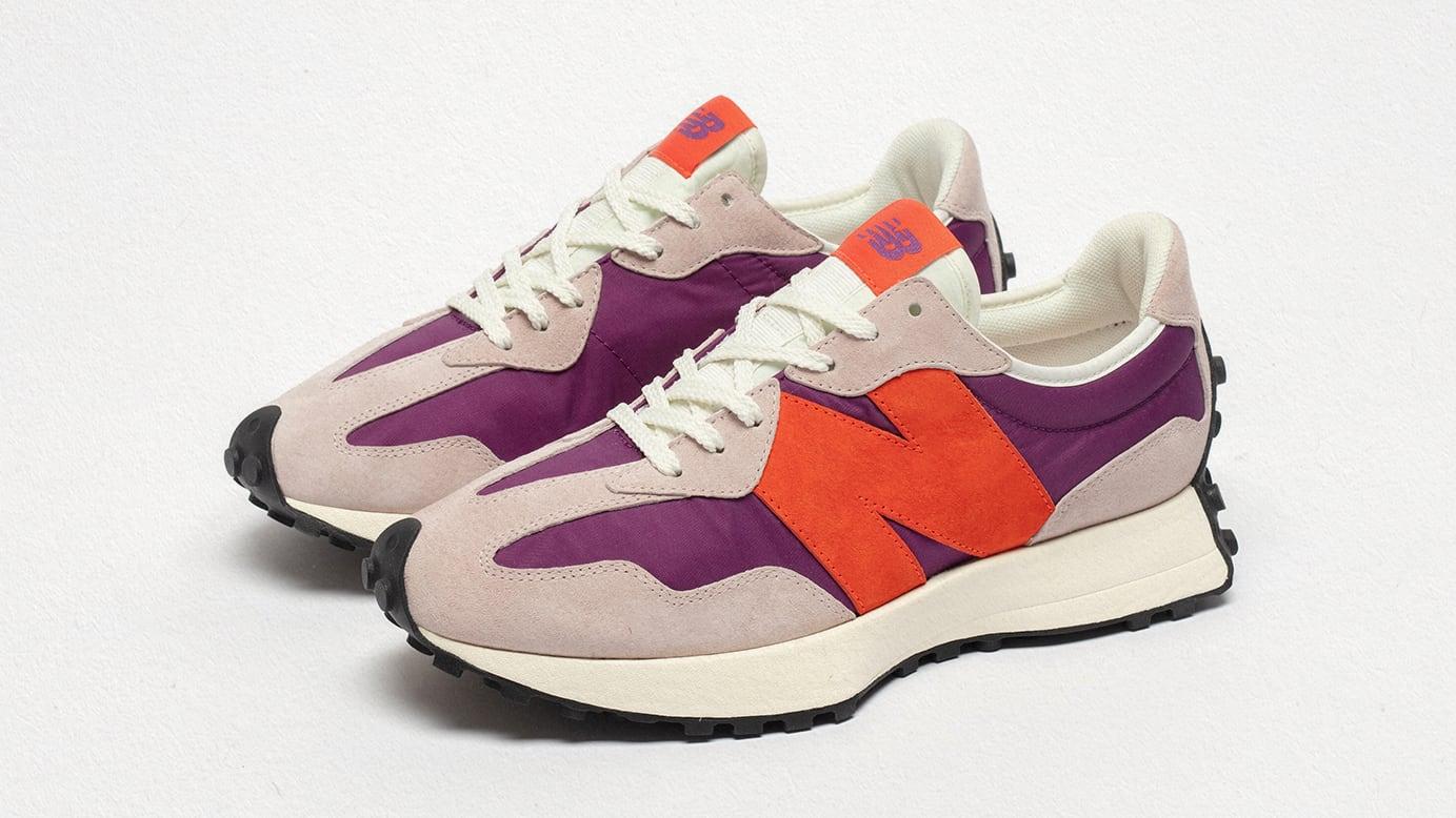 size? x New Balance 327 'purple/grey/orange' Pair