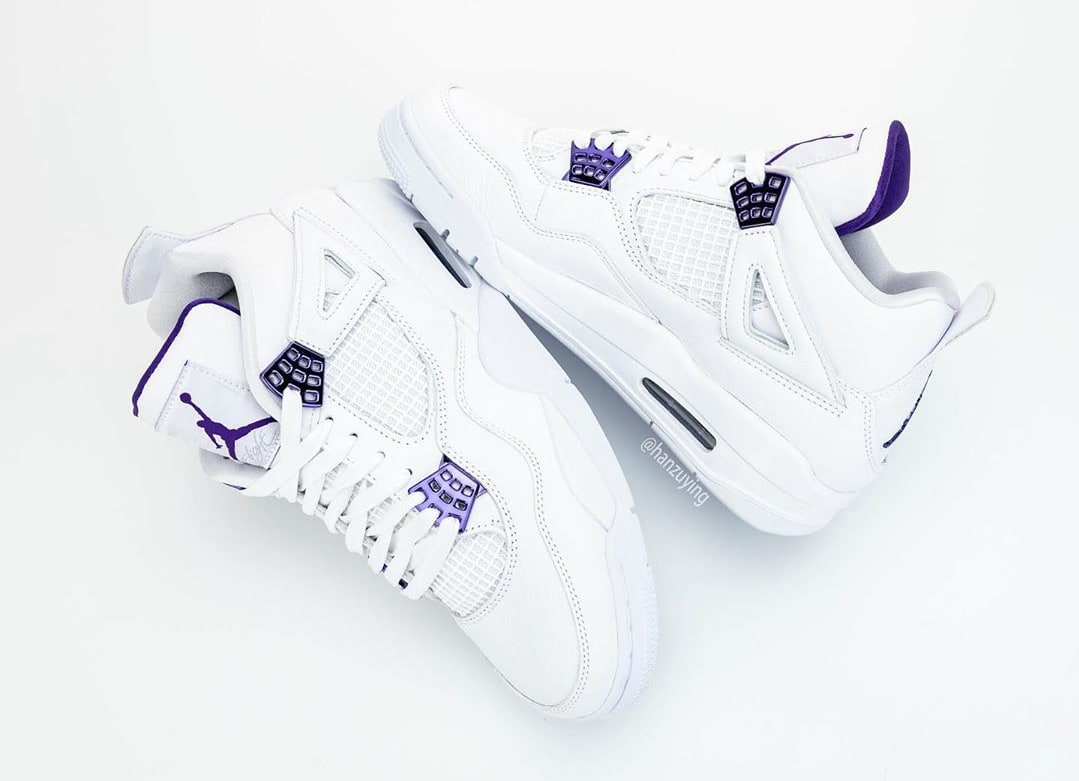 Air Jordan 4 Court Purple Release Date CT8527-115 Lateral Medial