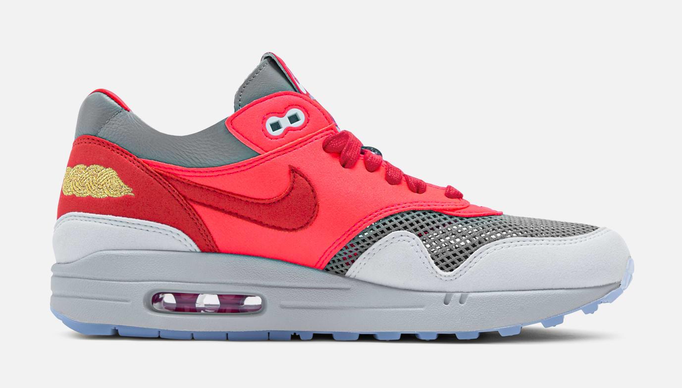 Clot x Nike Air Max 1 'K.O.D.' -Solar Red Medial