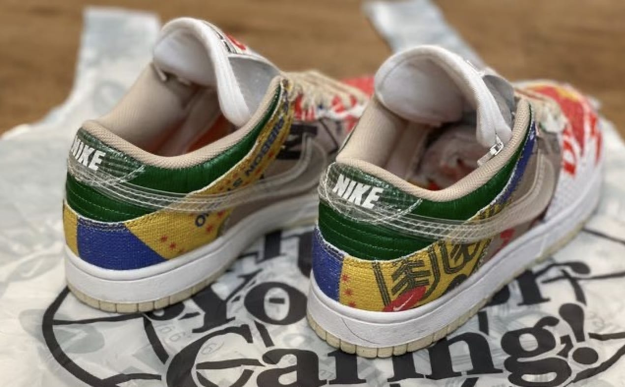 Nike Dunk Low 'Thank You For Caring' DA6125-900 Heel