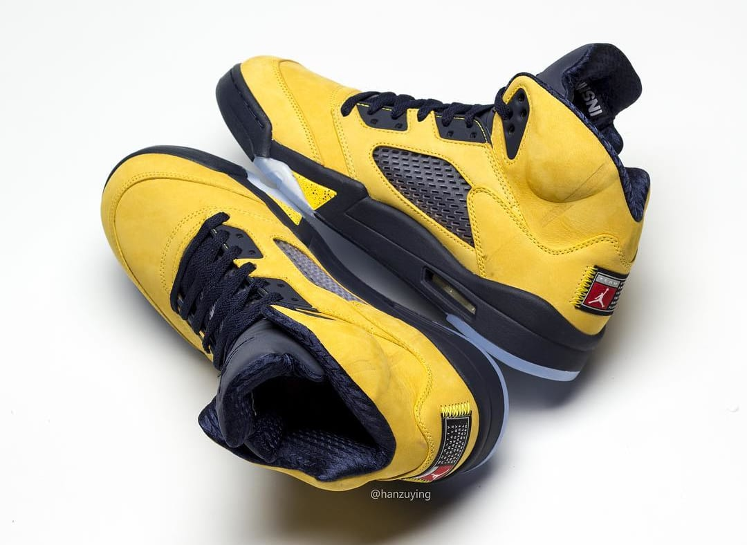 finest selection 74529 27e3d Image via hanzuying · Air Jordan 5 SP  Michigan  CQ9541-704