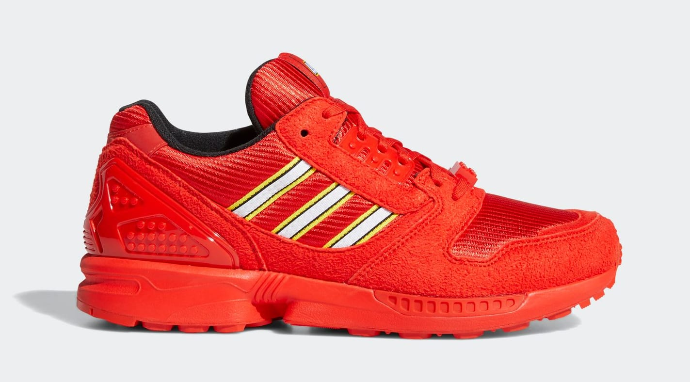 Lego x Adidas ZX 8000 Red Lateral