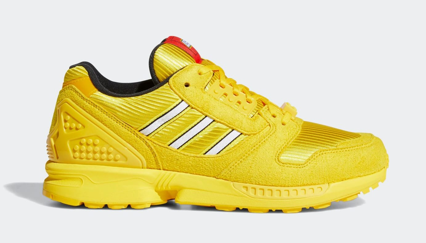 Lego x Adidas ZX 8000 Yellow Lateral