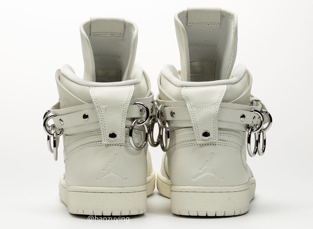 Comme Des Garcons x Air Jordan 1 'White' CN5738-100 Heel