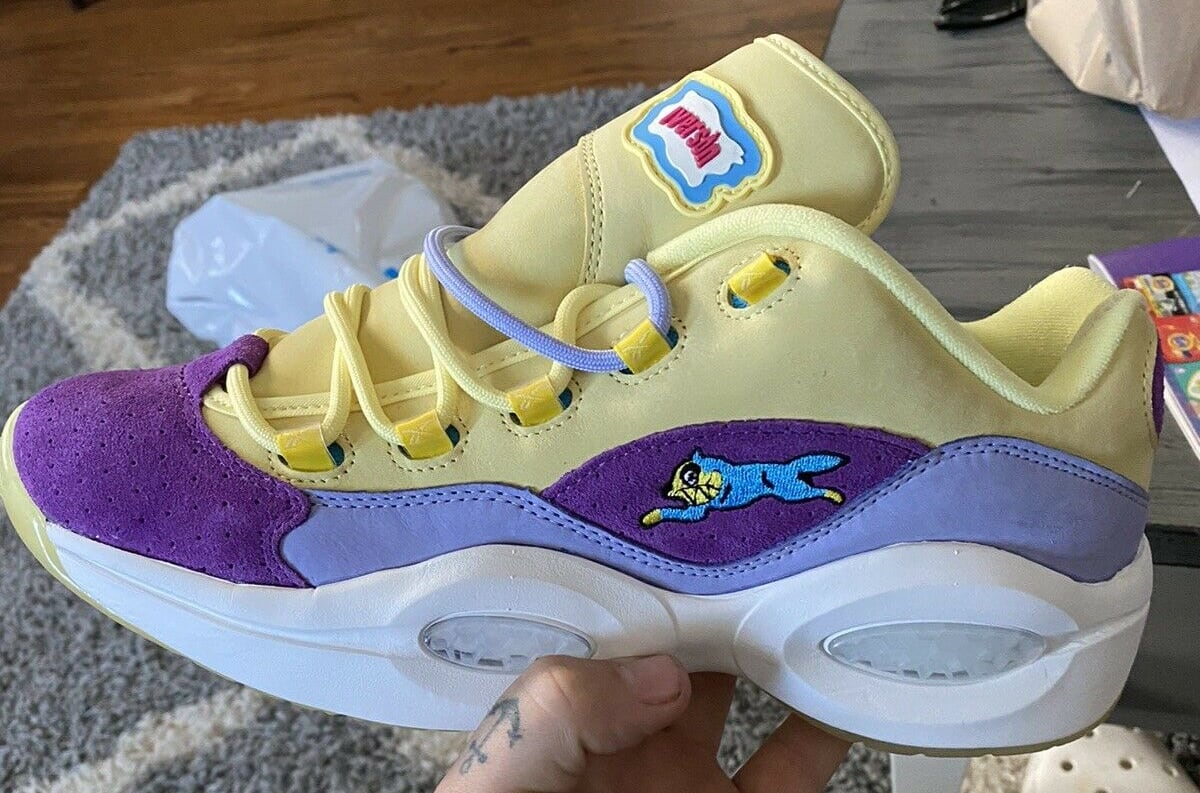 BBC x Reebok Question Low Yellow/Purple (Lateral)