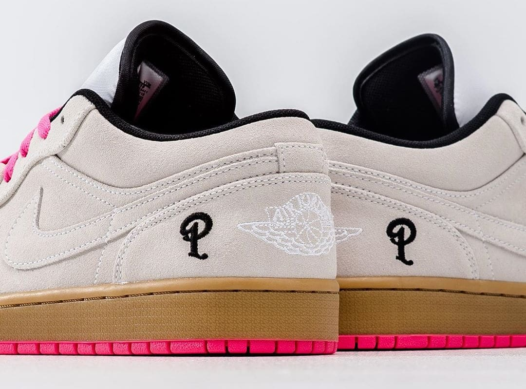6cd868f24fdf Image via Sneaker Politics Sneaker Politics x Air Jordan 1 Low (Detail)