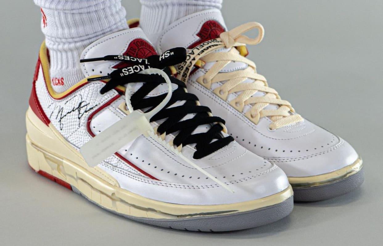 Off-White Air Jordan 2 Low DJ4375-106 Isometric On Foot