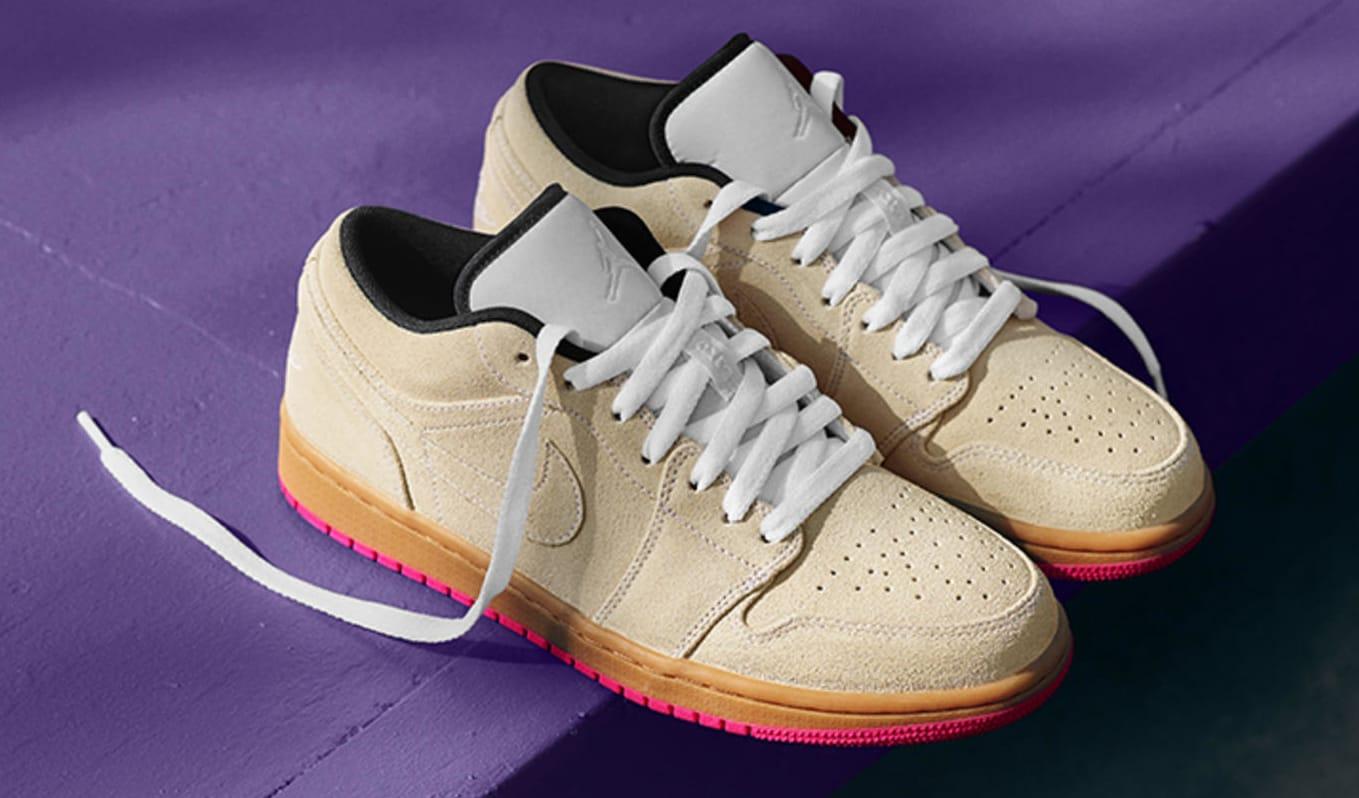 on sale be2be aa32b Image via Nike News Air Jordan 1 Low Gum Hyper Pink 553558-119