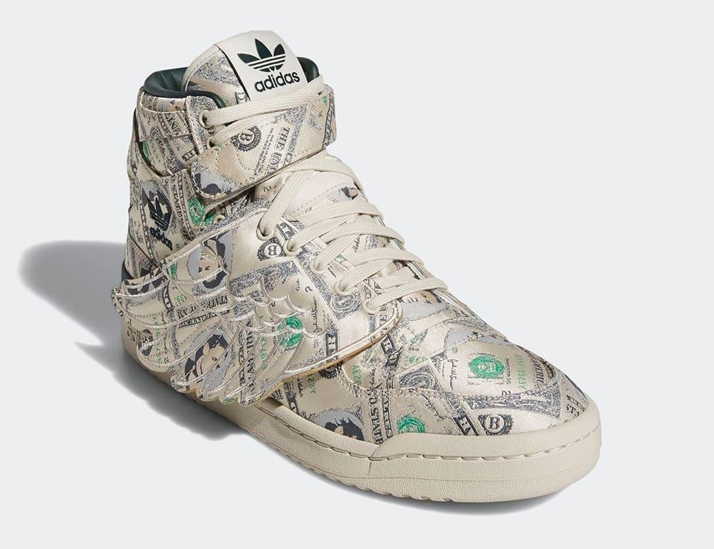 Jeremy Scott x Adidas Forum High Wings 'Money' Q46154 Front