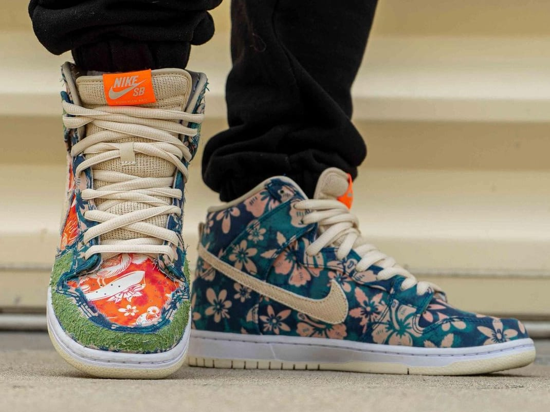 Nike SB Dunk High 'Maui Wowie' Sail/Blue/Green Aqua CZ2232-300 (Front)